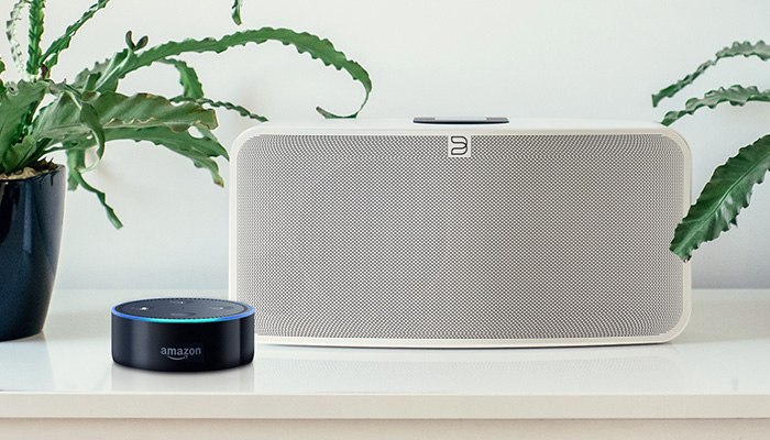 Alexa and Bluesound speakers and Amps